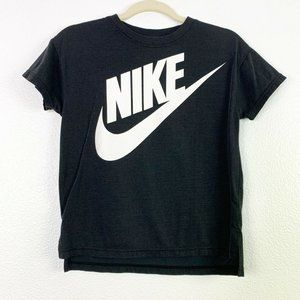 Nike Boys Black Short Sleeves Crew Neck Size Large